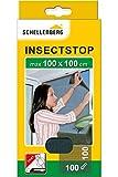 Schellenberg 50711 Fliegengitter für Fenster, Insektenschutz ohne Bohren, Schutz vor Mücken, Fliegen, Insekten und Ungeziefer, 100 x 100 cm, inkl. selbstklebendes Klettband, anthrazit
