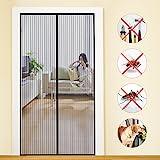 MYCARBON Magnet Fliegengitter Tür 110x220cm Insektenschutz Balkontür Fliegenvorhang | 10 x Stärker als Normales Fliegengitter - ohne Bohren - Vorhang für Balkontür Wohnzimmer Schiebetür Terrassentür